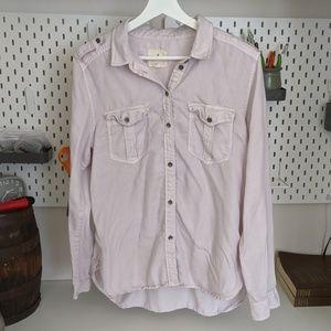 AMERICAN EAGLE women M boyfriend long sleeve shirt